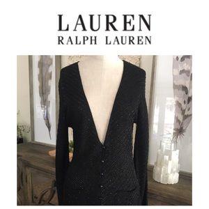 Ralph Lauren black beaded cardigan
